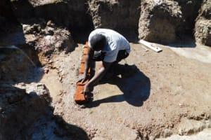 The Water Project: Muyundi Community, Magana Spring -  Brick Setting