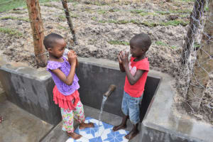 The Water Project: Muyundi Community, Magana Spring -  Gift And Ivy Excited To Drink Clean Water