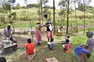 The Water Project: Muyundi Community, Magana Spring -  Demonstrating Alternative Greetings