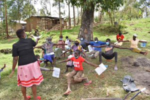 The Water Project: Muyundi Community, Magana Spring -  Demonstrating Physical Distancing