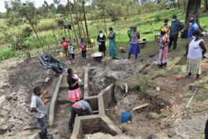 The Water Project: Muyundi Community, Magana Spring -  Discussing Maintaining The Spring
