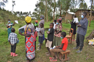 The Water Project: Muyundi Community, Magana Spring -  Discussion Using The Handouts Distributed