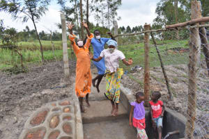 The Water Project: Muyundi Community, Magana Spring -  Women Celebrating At Water Source