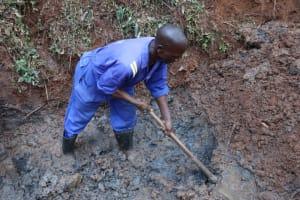 The Water Project: Shamakhokho Community, Wizula Spring -  Artisan Excavating Foundation
