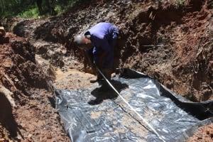 The Water Project: Shamakhokho Community, Wizula Spring -  Foundation Measurement