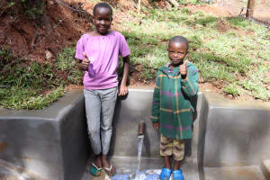 The Water Project: Shamakhokho Community, Wizula Spring -  Faith And Her Brother Posing At The Spring
