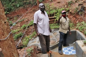 The Water Project: Shamakhokho Community, Wizula Spring -  Celebrating The Protected Spring