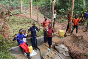 The Water Project: Shamakhokho Community, Wizula Spring -  Celebration At The Water Point
