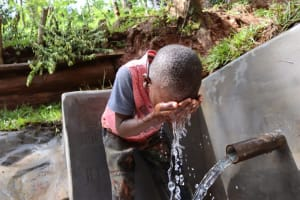 The Water Project: Shamakhokho Community, Wizula Spring -  Cooling Off