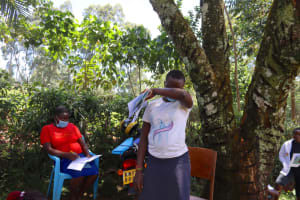 The Water Project: Shamakhokho Community, Wizula Spring -  Coughing In The Elbow For Covid Prevention