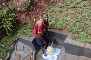 The Water Project: Shamakhokho Community, Wizula Spring -  Smiles At The Water Source