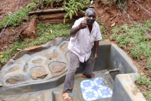 The Water Project: Shamakhokho Community, Wizula Spring -  Thumbs Up For Clean Water