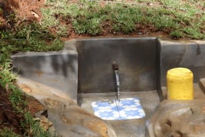 The Water Project: Shamakhokho Community, Wizula Spring -  Water Flowing