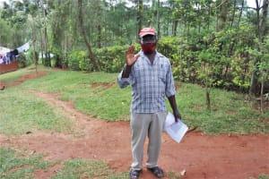 The Water Project: Shamakhokho Community, Wizula Spring -  Water User Committee Chair Harun Mugadi