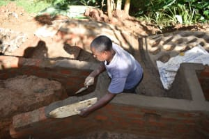 The Water Project: Malekha West Community, Soita Spring -  Plaster Works
