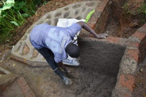 The Water Project: Malekha West Community, Soita Spring -  Inside Plastering