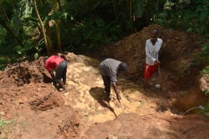 The Water Project: Malekha West Community, Soita Spring -  Excavation