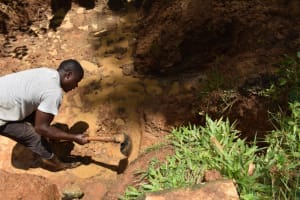 The Water Project: Malekha West Community, Soita Spring -  Escape Channel