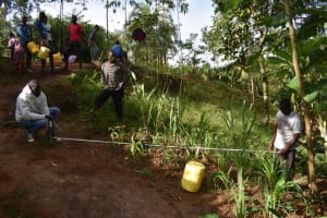 The Water Project: Malekha West Community, Soita Spring -  Foundation Measurements