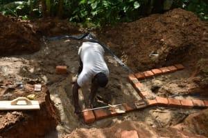 The Water Project: Malekha West Community, Soita Spring -  Brick Setting