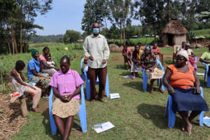 The Water Project: Malekha West Community, Soita Spring -  Commenting On Training