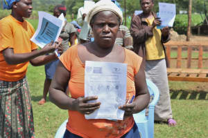 The Water Project: Malekha West Community, Soita Spring -  Training Charts