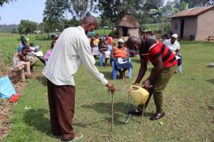 The Water Project: Malekha West Community, Soita Spring -  Demonstration On Handwashing