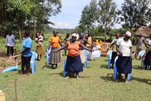 The Water Project: Malekha West Community, Soita Spring -  Practicing Physical Distance