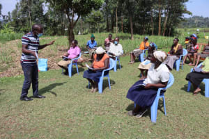 The Water Project: Malekha West Community, Soita Spring -  Victor Conducting Training