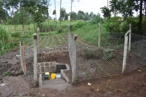 The Water Project: Malanga Community, Malava Housing Spring -  Protected Spring