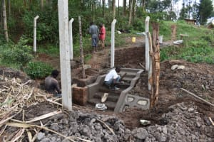 The Water Project: Malanga Community, Malava Housing Spring -  Stairs Construction