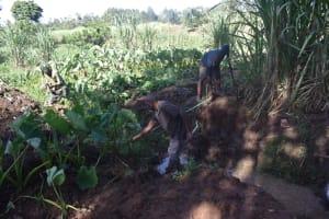 The Water Project: Malanga Community, Malava Housing Spring -  Foundation Measurements