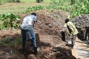 The Water Project: Malanga Community, Malava Housing Spring -  Excavation