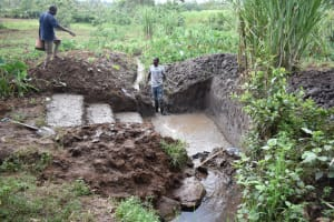 The Water Project: Malanga Community, Malava Housing Spring -  Setting The Foundation