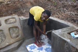 The Water Project: Malanga Community, Malava Housing Spring -  Joy Of Flowing Water