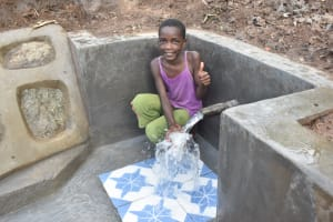 The Water Project: Malanga Community, Malava Housing Spring -  Thumbs Up For Clean Water
