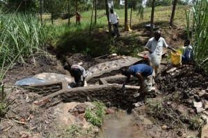 The Water Project: Bukhaywa Community, Violet Inganji Spring -  Plastering