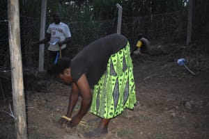 The Water Project: Bukhaywa Community, Violet Inganji Spring -  Grass Planting