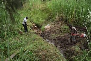 The Water Project: Bukhaywa Community, Violet Inganji Spring -  Excavation