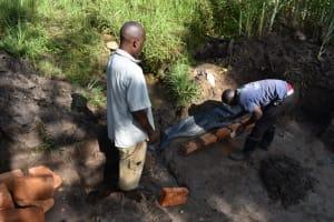 The Water Project: Bukhaywa Community, Violet Inganji Spring -  Brick Setting