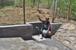 The Water Project: Bukhaywa Community, Violet Inganji Spring -  A Toast To Clean Water