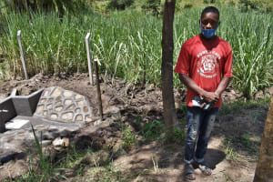 The Water Project: Bukhaywa Community, Violet Inganji Spring -  Brian Water User Committee Sanitation Officer