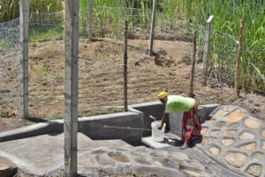 The Water Project: Bukhaywa Community, Violet Inganji Spring -  Fetching Water Made Easier