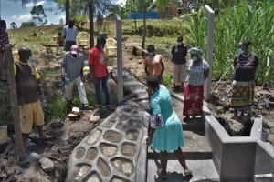The Water Project: Bukhaywa Community, Violet Inganji Spring -  On Site Training