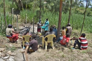 The Water Project: Bukhaywa Community, Violet Inganji Spring -  Participant Demonstrating Handwashing