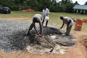 The Water Project: Friends School Manguliro Secondary -  Concrete Mixing