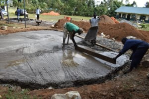 The Water Project: Friends School Manguliro Secondary -  Concrete Placement On Foundation