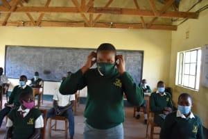 The Water Project: Friends School Manguliro Secondary -  Proper Mask Wearing