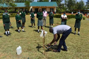 The Water Project: Friends School Manguliro Secondary -  Constructing A Tippy Tap Handwashing Point