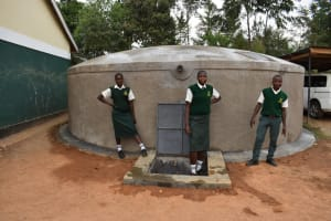 The Water Project: Friends School Manguliro Secondary -  Students Pose At The Complete Tank